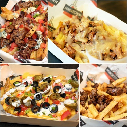 Blue Cheese Fries  Poutine with BBQ Beef Brisket Irish Nachos  Black Truffle Fries