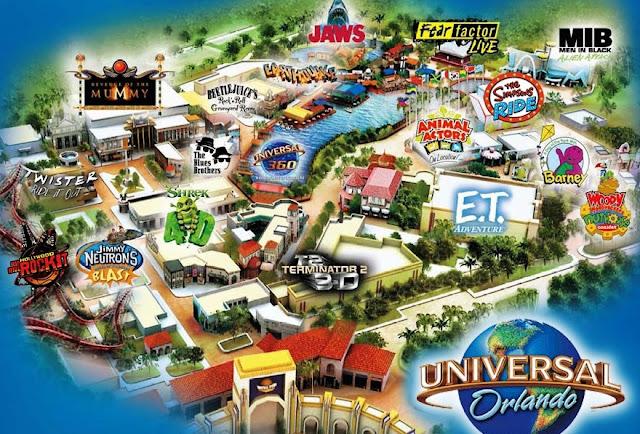 Universal Studios Park Map