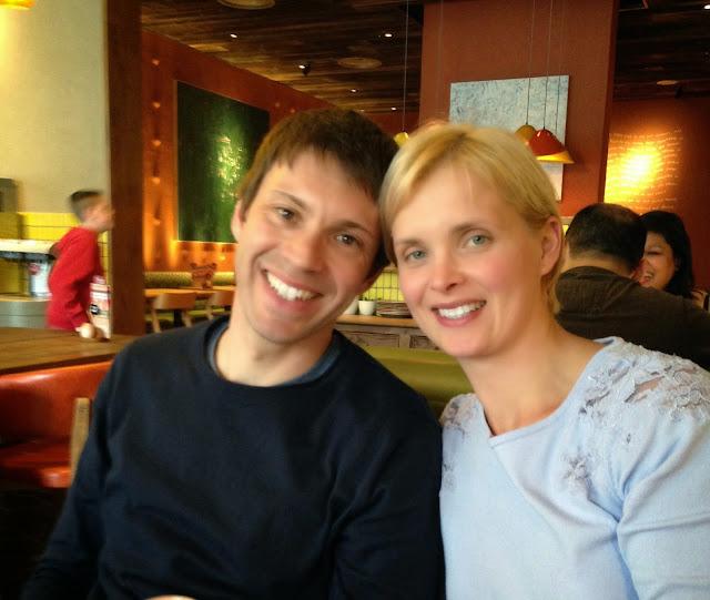 Me and the husband at my birthday dinner at Nandos
