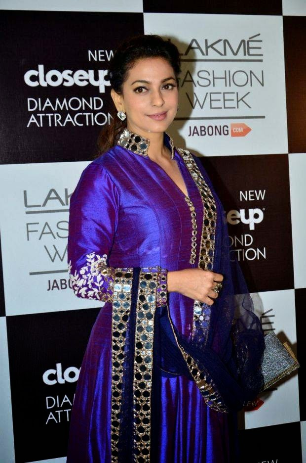 Juhi Chawla At Lakme Grand Finale 2014