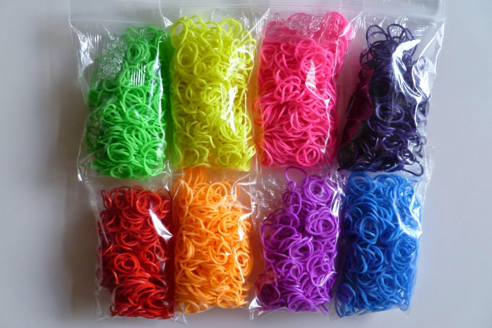 Loom Bands LATEX VRIJ 300 elastiekjes incl. 15 clips