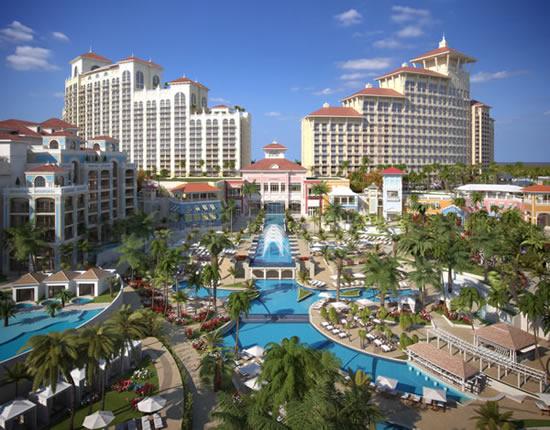 Luxury beachfront resort property in The Bahamas
