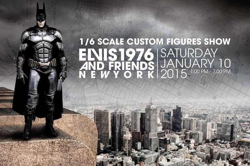 PUNCH CUSTOMS PRESENTS ELVIS1976 & FRIENDS CUSTOM FIGURE SHOW, NYC, JANUARY 10, 2015