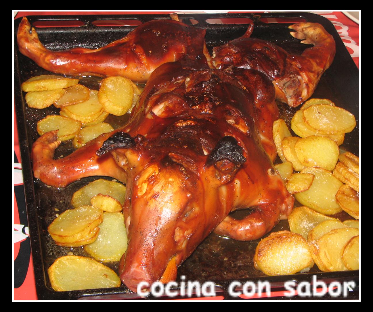 Cocina con sabor cochinillo al horno - Cocina al horno ...
