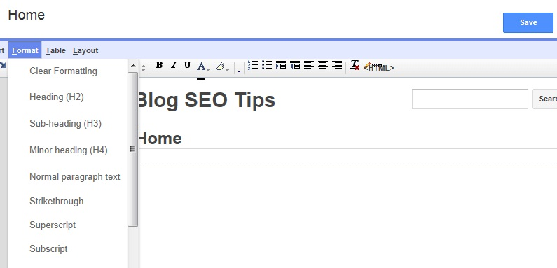 How to create a google sites template page daily blog for How to change template on google sites