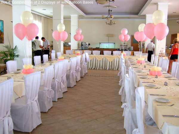 Wedding decoration with balloons fashion in new look for Ballon wedding decoration