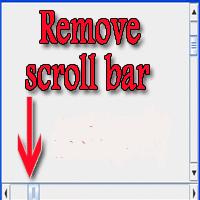 شرح حذف شريط التمرير السفلى Scroll Bar لقالب بلوجر ليتناسب مع جميع المتصفحات