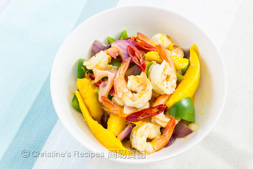 Stir Fried Prawns with Mango03