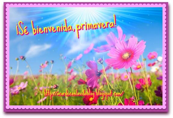 * Saludos primavera *