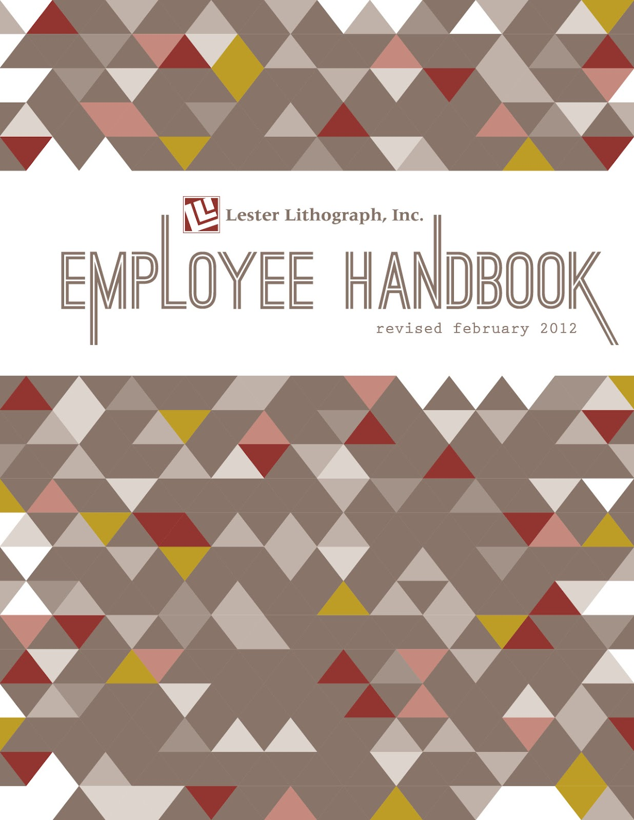 Heather l myers graphic design employee handbook cover for Employee handbook cover design template