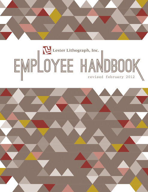 Hand Book Cover Design ~ Heather l myers graphic design employee handbook cover