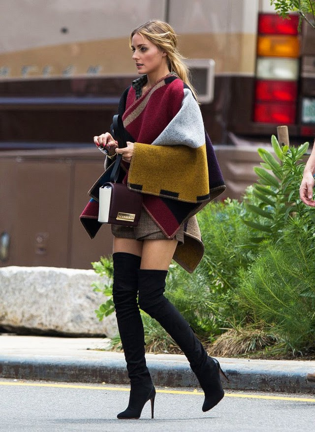 Ulična moda: kako cure u Zagrebu nose čizme preko koljena. Winter chic boots style: how to wear over the knee boots - street fashion inspirations, Olivia Palermo