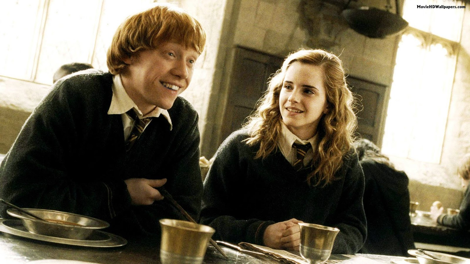 are ron and hermione dating in harry potter