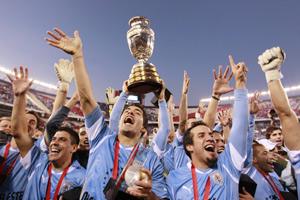 Uruguai é o campeão da Copa América 2011.