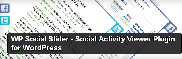 WP Social Slider - Social Activity Viewer Plugin for WordPress