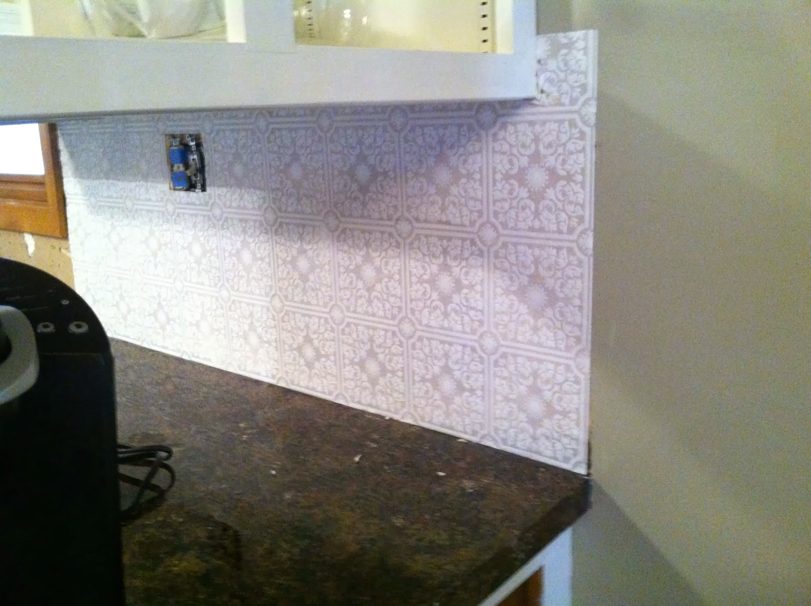 Diy why spend more paintable wallpaper for a backsplash without paint doublecrazyfo Gallery
