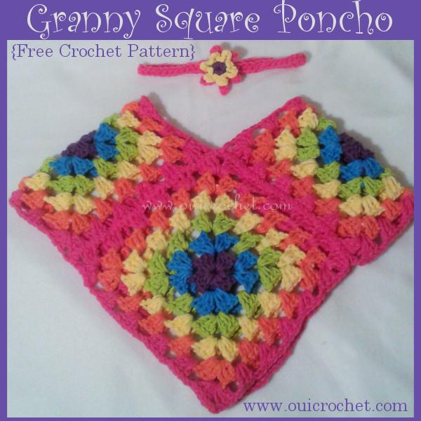 Granny Square Poncho