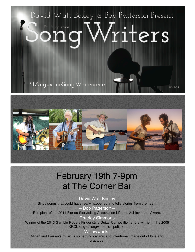 SONGWRITERS NIGHT FEB 2018