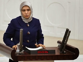 Candemir Çelik di mimbar parlemen  (foto Hurriyet Daily)