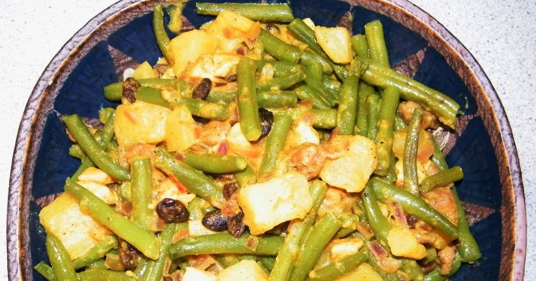 Comer rico y sano: Judías verdes y patatas al curry - photo#49