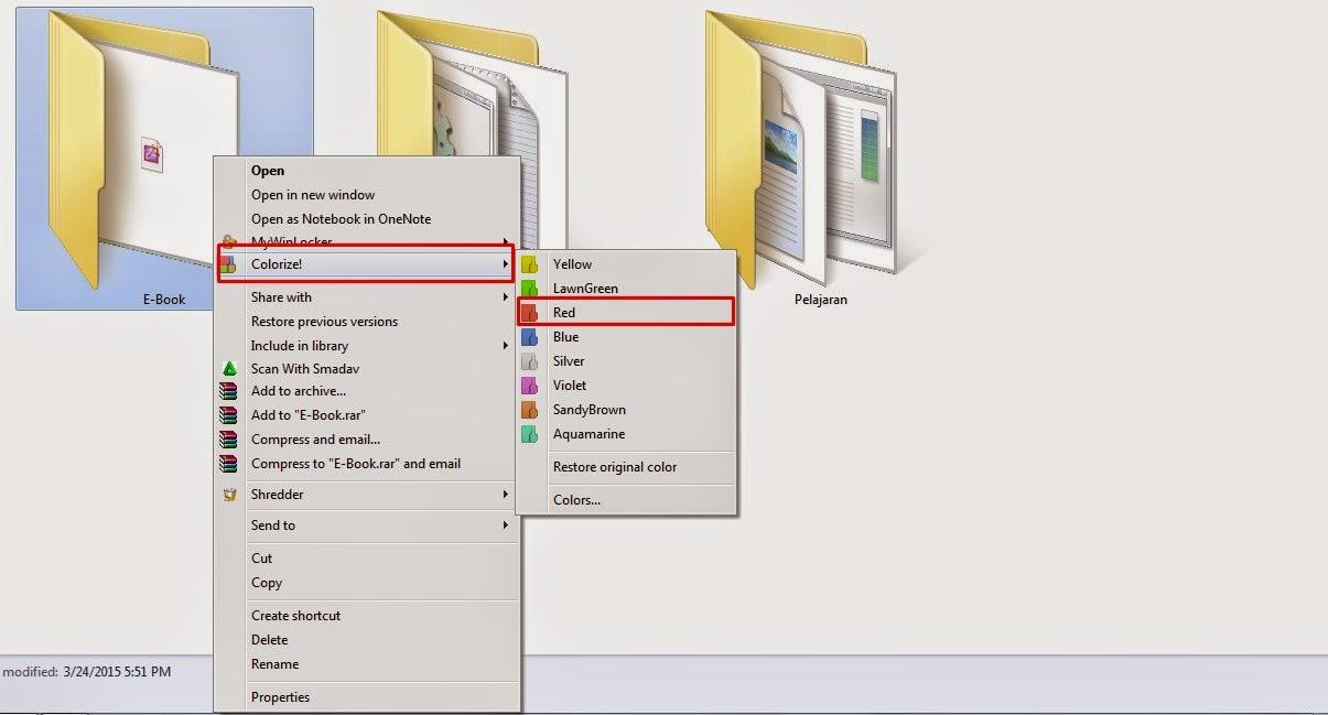 merubah folder menjadi berwarna