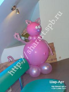 фигура кота из шаров