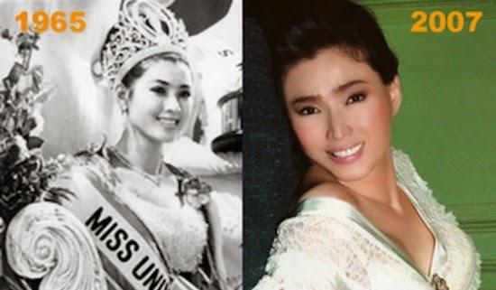 صورة لملكة جمال العالم وصورة سنة 2007