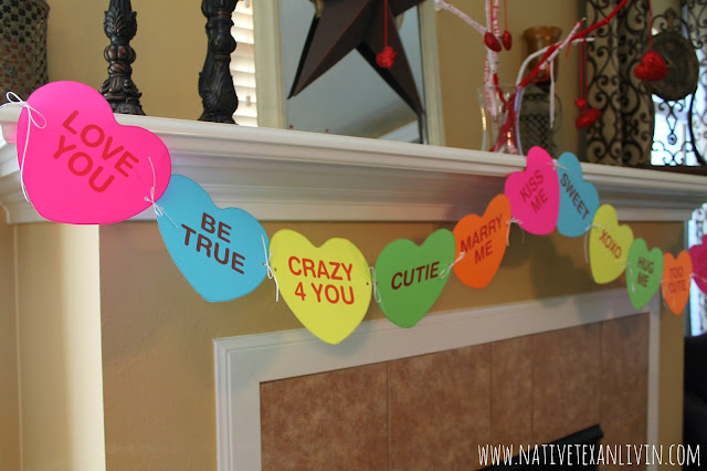 Easy Conversation Heart Banner