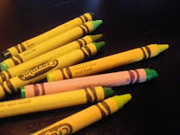 photo of green crayons taken by MeetGreen for sustainability blog