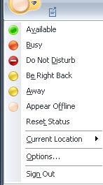 Appear Offline in Microsoft Office Communicator