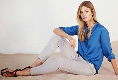 Moda mulher Massimo Dutti primavera verão 2014 Lookbook calças com riscas e camisa
