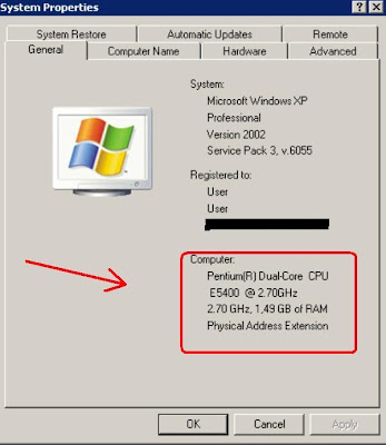 Cara mengetahui spesifikasi komputer