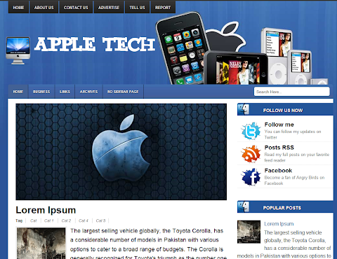 Apple Tech Blogger Theme