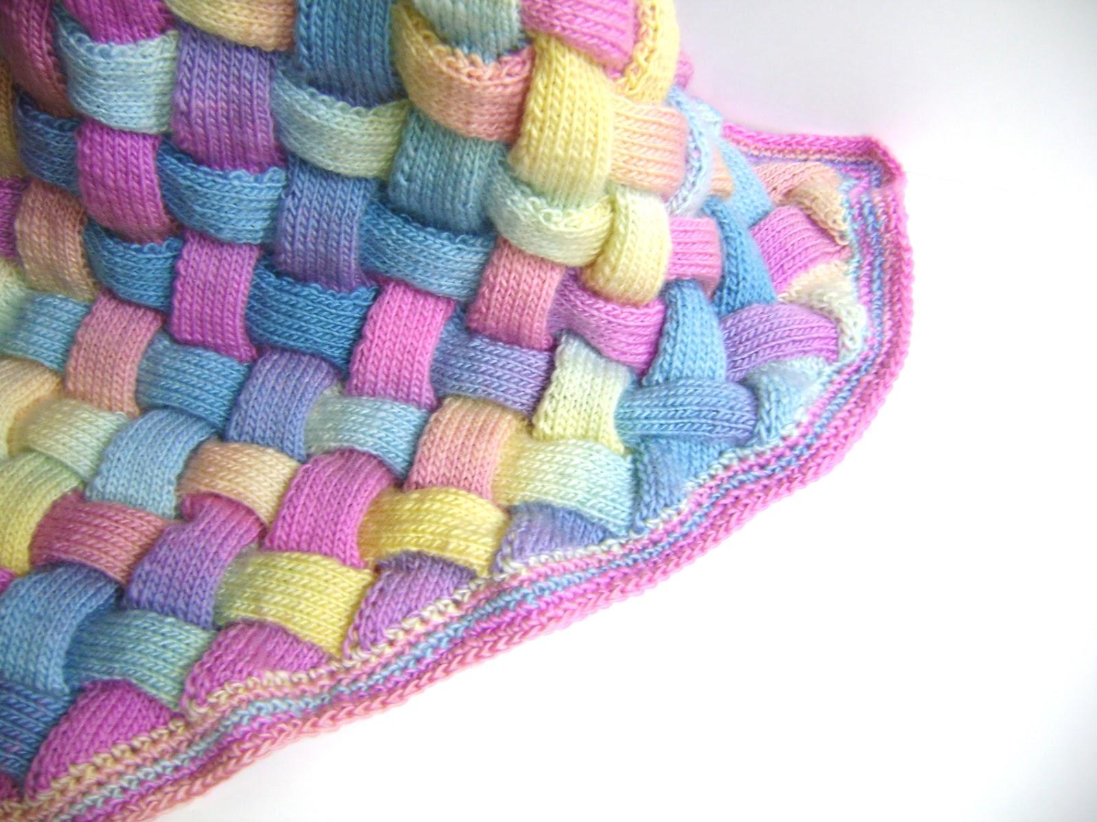 Entrelac Afghan Knitting Pattern : Creative Designs by Sheila Zachariae: Rainbow Entrelac Blanket