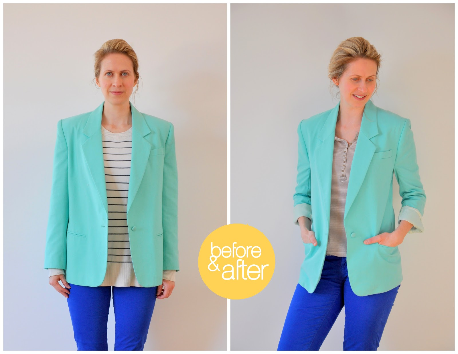 Tailoring a thifted Blazer