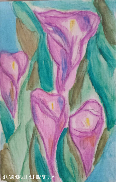 Cala Lillies- watercolor- write 31 days