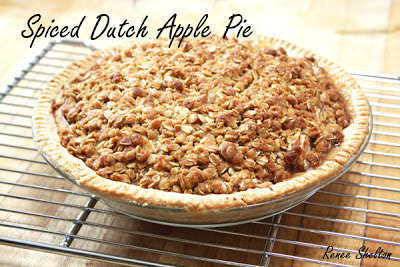 Spiced Dutch Apple Pie with Savannah Smiles Streusel Topping and Hot ...