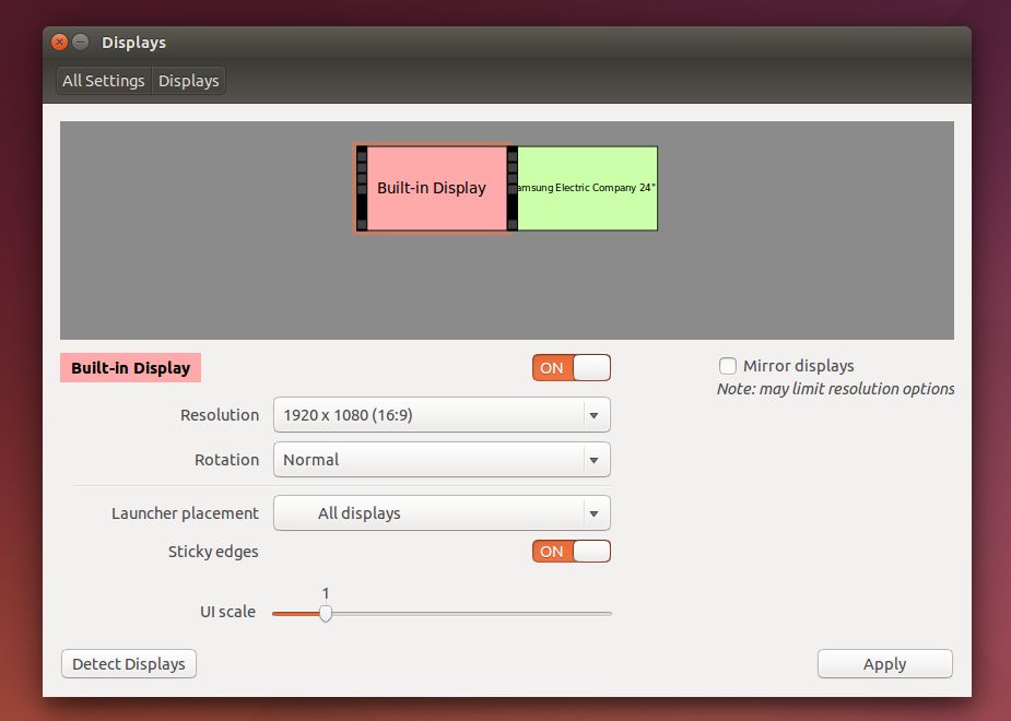 Ubuntu 14.04 HiDPI (UI scale) settings