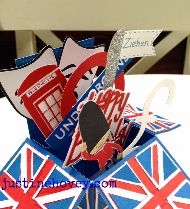 Justines Cardmaking Happy Birthday Uk Themed Pop Up Card Using