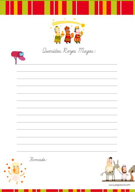 Recursos para Educación Infantil: Modelos de Cartas a los Reyes ...