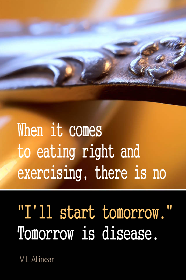 visual quote - image quotation for FITNESS - When it comes to eating right and exercising, there is no