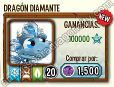 imagen de dragones unicos raros de hielo en dragon city
