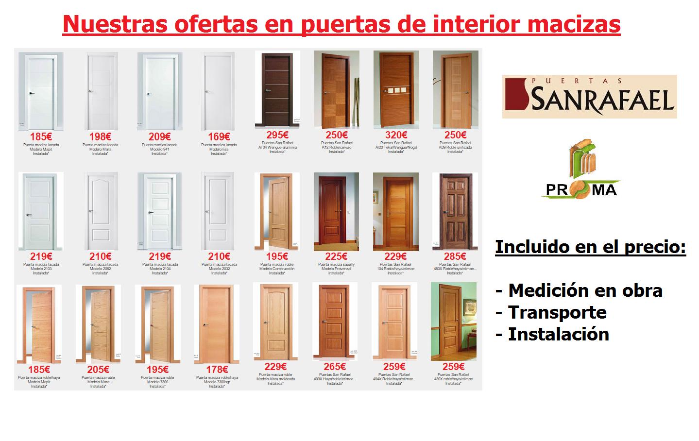 Ofertas en puertas de interior en Madrid