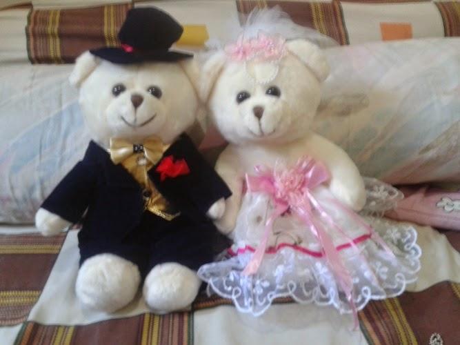 Gambar boneka teddy bear berpasangan