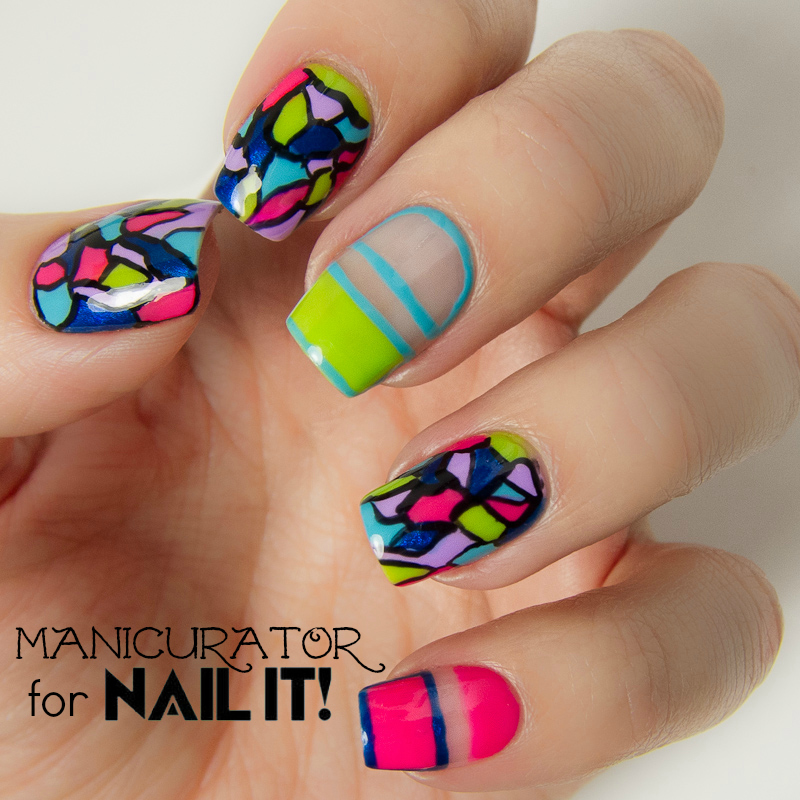 Manicurator Kiss Products Freehand Mosaic Nail Art For Nail It