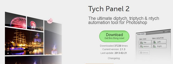 Tych Panel plugin for Photoshop