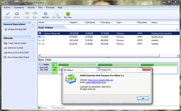aomei dynamic disk manager server edition