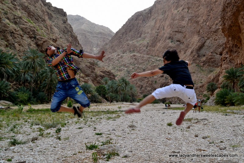one crazy jump shot in Wadi Shab