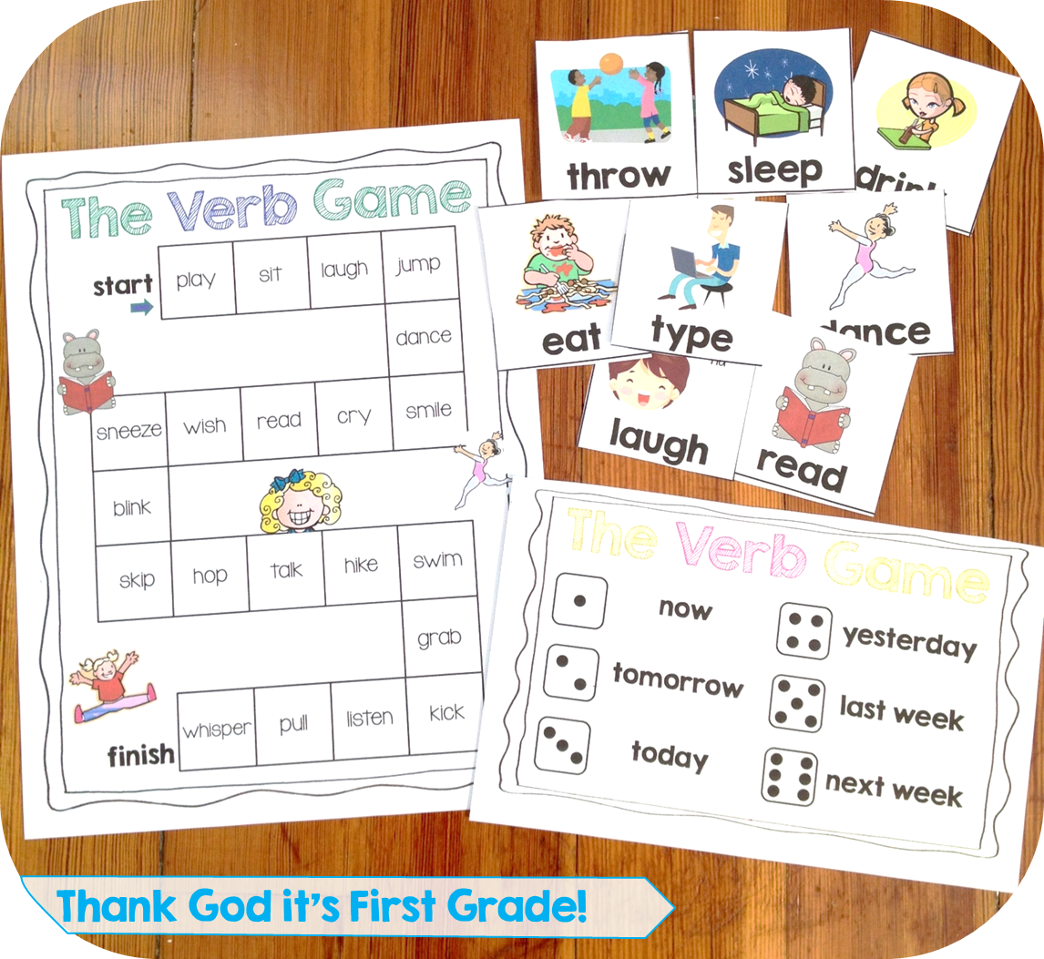 Worksheet Verbs 1st Grade first grade common core language activities and printables printables