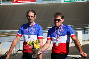 Champion de France sur piste avec Cyrille Santerre au Mans (72) le 8 septembre 2013
